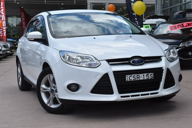 Used Ford Focus LW MkII Trend PwrShift Blacktown, 2014 Ford Focus LW MkII Trend PwrShift White 6 Speed Sports Automatic Dual Clutch Hatchback