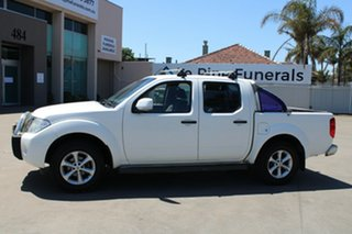 2012 Nissan Navara D40 MY12 ST (4x4) White 6 Speed Manual Dual Cab Pick-up