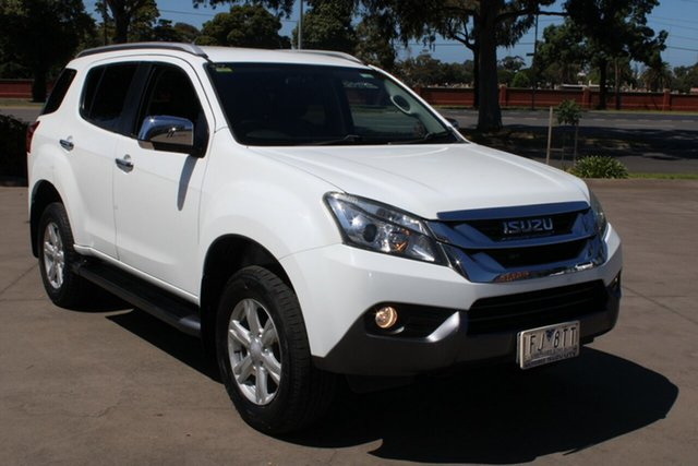 Used Isuzu MU-X MY15 LS-T Rev-Tronic West Footscray, 2015 Isuzu MU-X MY15 LS-T Rev-Tronic White 5 Speed Sports Automatic Wagon