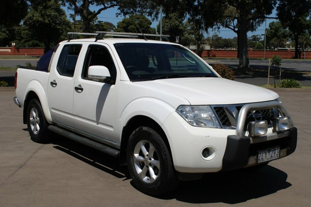 Used Nissan Navara D40 MY12 ST (4x4) West Footscray, 2012 Nissan Navara D40 MY12 ST (4x4) White 6 Speed Manual Dual Cab Pick-up