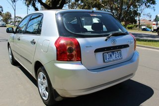 2006 Toyota Corolla ZZE122R 5Y Ascent Silver 4 Speed Automatic Hatchback