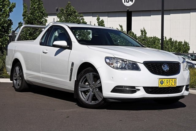 Used Holden Ute VF MY14 Ute Essendon Fields, 2014 Holden Ute VF MY14 Ute White 6 Speed Sports Automatic Utility