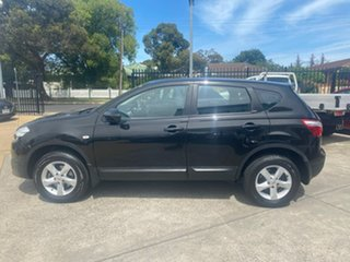 2010 Nissan Dualis J10 MY2009 ST Hatch Black 6 Speed Manual Hatchback