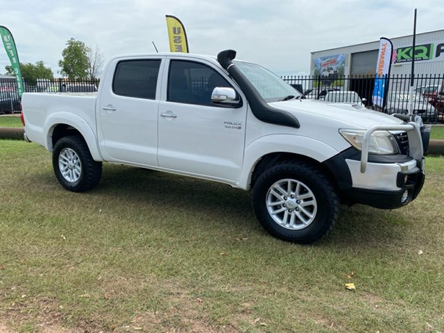 Used Toyota Hilux KUN26R MY12 SR5 Double Cab Berrimah, 2012 Toyota Hilux KUN26R MY12 SR5 Double Cab White 5 Speed Manual Utility