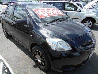 2007 Toyota Yaris NCP93R YRX Black 5 Speed Manual Sedan.