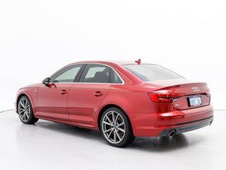 2016 Audi A4 F4 (B9) 2.0 TFSI S Tronic Sport Red 7 Speed Auto Dual Clutch Sedan