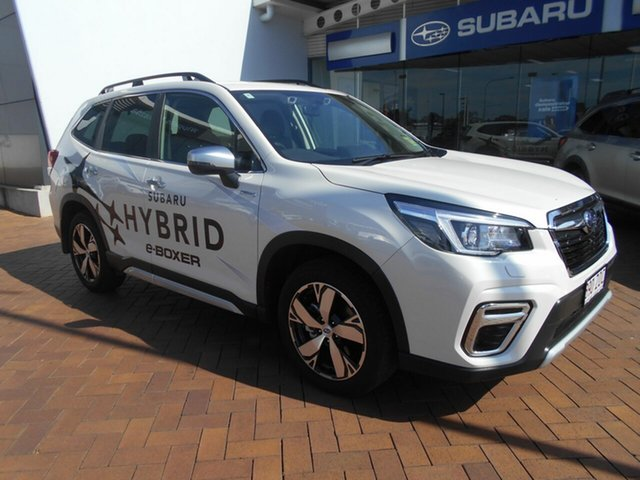 Demo Subaru Forester S5 MY20 Hybrid S CVT AWD Toowoomba, 2019 Subaru Forester S5 MY20 Hybrid S CVT AWD Crystal White 7 Speed Constant Variable Wagon Hybrid