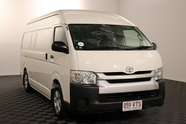 Used Toyota HiAce KDH221R High Roof Super LWB Acacia Ridge, 2015 Toyota HiAce KDH221R High Roof Super LWB French Vanilla 4 speed Automatic Van