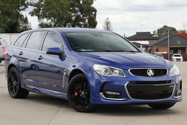 Used Holden Commodore VF II SS-V Redline Chullora, 2015 Holden Commodore VF II SS-V Redline Blue 6 Speed Automatic Sportswagon