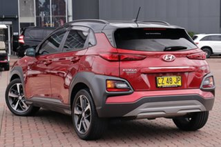 2017 Hyundai Kona OS MY18 Highlander D-CT AWD Burgundy 7 Speed Sports Automatic Dual Clutch SUV
