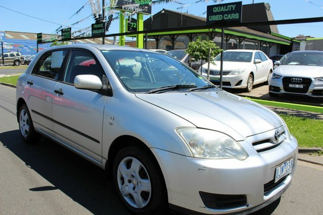 Used Toyota Corolla ZZE122R 5Y Ascent West Footscray, 2006 Toyota Corolla ZZE122R 5Y Ascent Silver 4 Speed Automatic Hatchback