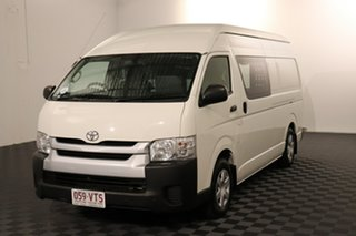 2015 Toyota HiAce KDH221R High Roof Super LWB French Vanilla 4 speed Automatic Van.