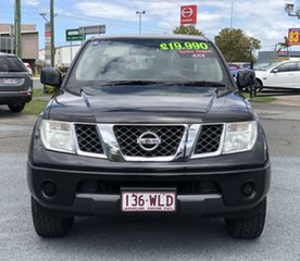 2010 Nissan Navara D40 ST Black 5 Speed Automatic Utility.