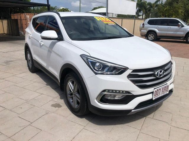 Used Hyundai Santa Fe DM3 MY17 Active Mundingburra, 2017 Hyundai Santa Fe DM3 MY17 Active White 6 Speed Sports Automatic Wagon