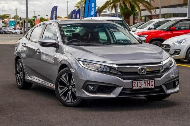 Used Honda Civic 10th Gen MY18 VTi-LX Aspley, 2018 Honda Civic 10th Gen MY18 VTi-LX Silver 1 Speed Constant Variable Sedan