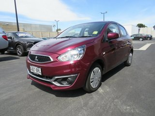 2017 Mitsubishi Mirage LA MY18 ES Red 1 Speed Constant Variable Hatchback.