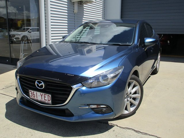 Used Mazda 3 BN5238 SP25 SKYACTIV-Drive Caboolture, 2018 Mazda 3 BN5238 SP25 SKYACTIV-Drive Blue 6 Speed Sports Automatic Sedan