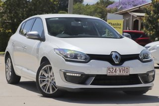2014 Renault Megane III B95 Phase 2 GT-Line EDC White 6 Speed Sports Automatic Dual Clutch Hatchback.