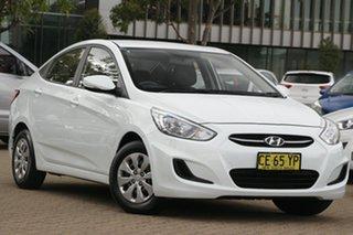2015 Hyundai Accent RB3 MY16 Active White 6 Speed CVT Auto Sequential Sedan.