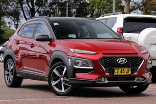 2017 Hyundai Kona OS MY18 Highlander D-CT AWD Burgundy 7 Speed Sports Automatic Dual Clutch SUV.