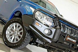 2016 Mitsubishi Triton MQ MY17 GLS (4x4) Blue 5 Speed Automatic Dual Cab Utility.