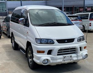 2004 Mitsubishi Delica PD6W Spacegear White Automatic Van Wagon.