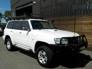 2011 Nissan Patrol GU 7 MY10 ST White 4 Speed Automatic Wagon.