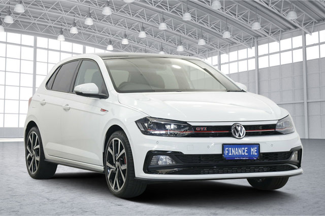 Used Volkswagen Polo AW MY19 GTI DSG Victoria Park, 2019 Volkswagen Polo AW MY19 GTI DSG Pure White 6 Speed Sports Automatic Dual Clutch Hatchback