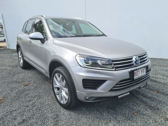 Used Volkswagen Touareg 7P MY15 V6 TDI Tiptronic 4MOTION North Rockhampton, 2015 Volkswagen Touareg 7P MY15 V6 TDI Tiptronic 4MOTION Silver 8 Speed Sports Automatic Wagon