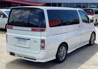 2006 Nissan Elgrand E51 Rider S White Automatic Wagon.