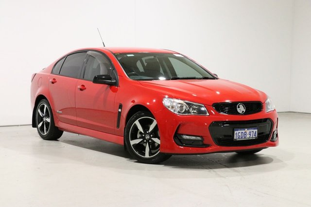 Used Holden Commodore Vfii MY16 SV6 Black Edition Bentley, 2016 Holden Commodore Vfii MY16 SV6 Black Edition Red 6 Speed Automatic Sedan
