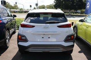 2020 Hyundai Kona OS.3 MY20 Elite D-CT AWD Chalk White 7 Speed Sports Automatic Dual Clutch Wagon.