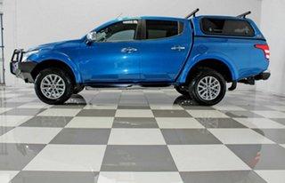 2016 Mitsubishi Triton MQ MY17 GLS (4x4) Blue 5 Speed Automatic Dual Cab Utility