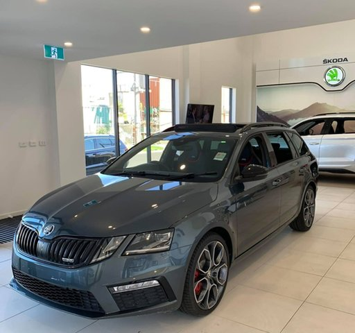 New Skoda Octavia NE MY20.5 RS DSG 245 Seaford, 2020 Skoda Octavia NE MY20.5 RS DSG 245 Grey 7 Speed Sports Automatic Dual Clutch Wagon