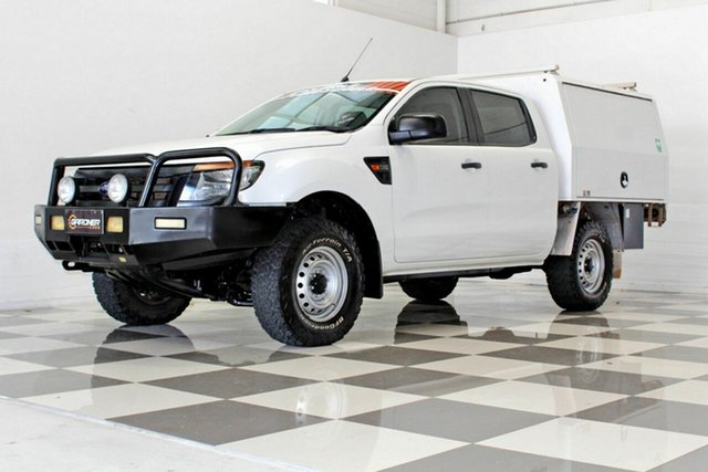 Used Ford Ranger PX XL 3.2 (4x4) Burleigh Heads, 2014 Ford Ranger PX XL 3.2 (4x4) White 6 Speed Manual Dual Cab Chassis