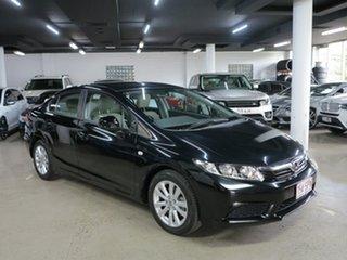 2012 Honda Civic 9th Gen VTi-L Black 5 Speed Sports Automatic Sedan.