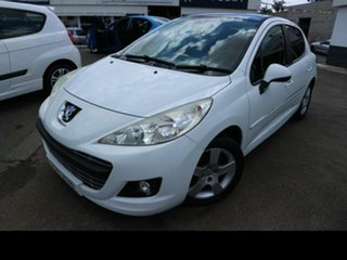 2012 Peugeot 207 MY10 XT White 4 Speed Automatic Hatchback.