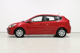 2017 Hyundai Accent RB4 MY17 Active Red 6 Speed CVT Auto Sequential Hatchback