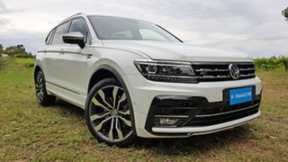 2019 Volkswagen Tiguan 5N MY19.5 162TSI Highline DSG 4MOTION Allspace White 7 Speed.