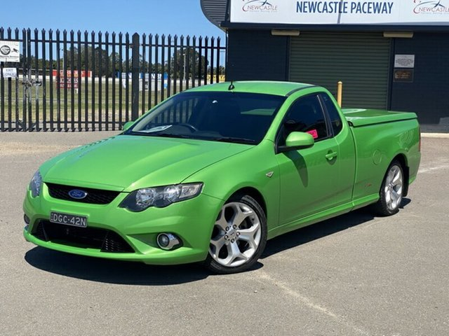 Used Ford Falcon FG XR8 Ute Super Cab Newcastle, 2009 Ford Falcon FG XR8 Ute Super Cab Green 6 Speed Sports Automatic Utility