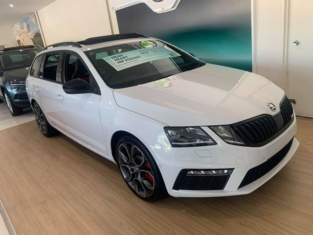 New Skoda Octavia NE MY20 RS DSG 245 Seaford, 2019 Skoda Octavia NE MY20 RS DSG 245 White 7 Speed Sports Automatic Dual Clutch Wagon