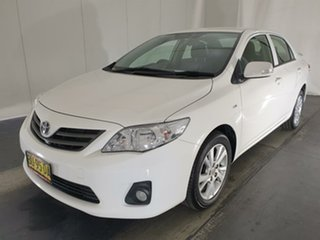 2013 Toyota Corolla ZRE152R Ascent Sport White 4 Speed Automatic Sedan