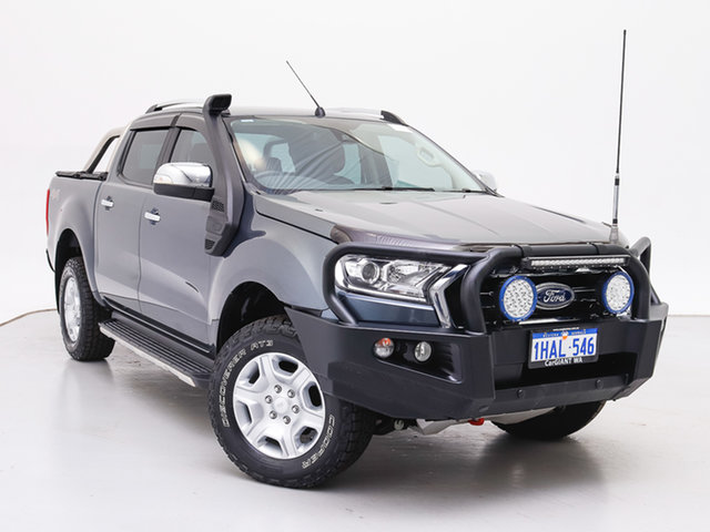Used Ford Ranger PX MkII MY17 XLT 3.2 (4x4), 2016 Ford Ranger PX MkII MY17 XLT 3.2 (4x4) Grey 6 Speed Automatic Double Cab Pick Up