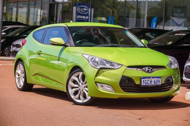 Used Hyundai Veloster FS Coupe D-CT Gosnells, 2012 Hyundai Veloster FS Coupe D-CT Green 6 Speed Sports Automatic Dual Clutch Hatchback