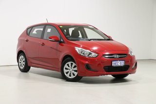 2017 Hyundai Accent RB4 MY17 Active Red 6 Speed CVT Auto Sequential Hatchback.