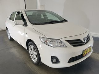 2013 Toyota Corolla ZRE152R Ascent Sport White 4 Speed Automatic Sedan.