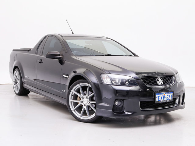 Used Holden Commodore VE II MY12 SV6 Thunder, 2012 Holden Commodore VE II MY12 SV6 Thunder Black 6 Speed Manual Utility