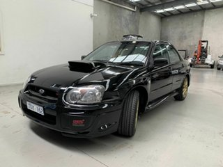 2004 Subaru Impreza S MY05 WRX STi AWD Black 6 Speed Manual Sedan.