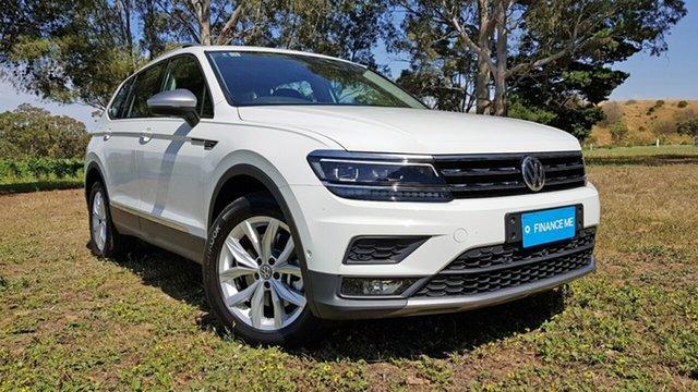 Used Volkswagen Tiguan 5N MY18 132TSI Comfortline DSG 4MOTION Allspace Nuriootpa, 2018 Volkswagen Tiguan 5N MY18 132TSI Comfortline DSG 4MOTION Allspace White 7 Speed