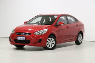 2017 Hyundai Accent RB4 MY17 Active Red 6 Speed CVT Auto Sequential Sedan.